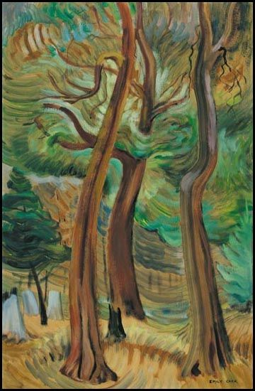Arbutus Trees, 1931? Vancouver Island. Emily Carr