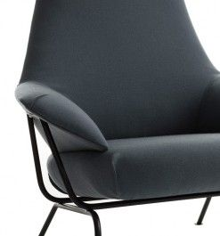 The Hai lounge chair by Luca Nichetto for One Nordic Furniture Company, smartly incorporates a folding backrest that makes shipping for online sales easier.