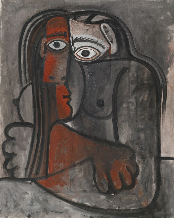 Pablo Picasso 1881 - 1973 NU, LES BRAS CROISÉS Dated 13.2.60 & 18.2.60 on the reverse Oil on canvas 39 3/8 by 31 7/8 in. 100 by 81 cm Painted on February 18, 1960.: