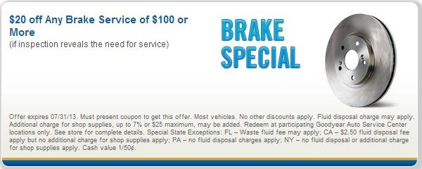 Goodyear auto service coupons