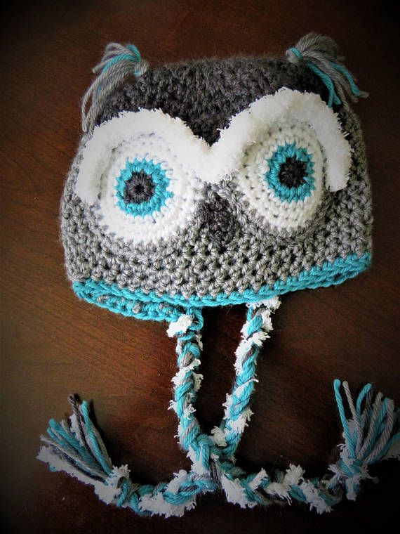 Ready to ship teen/adult owl hat