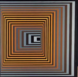 Vonal-Fegn - (Victor Vasarely)