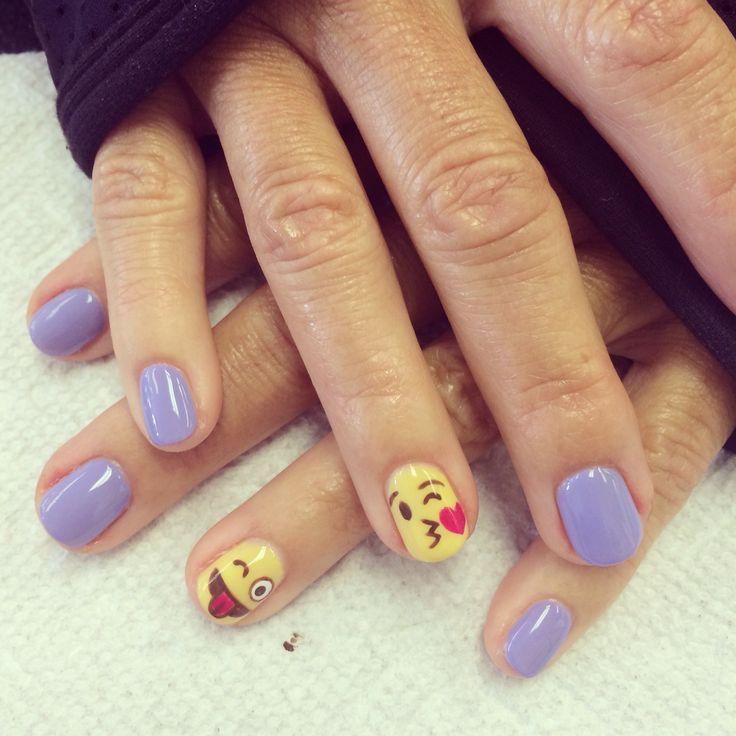 Emoji nail art design
