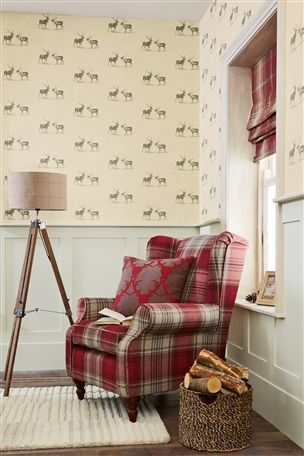 Buy Natural Stags Wallpaper from the Next UK online shop