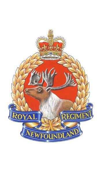 Cap badge of the Royal Newfoundland Regiment.