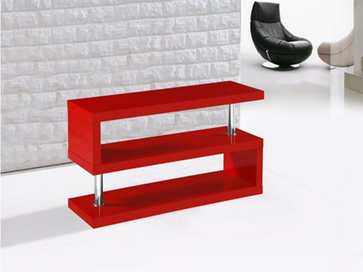 Exceptional Miami High Gloss Modern Red TV Stand