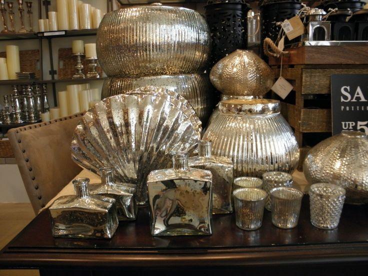 Pottery Barn Mercury Glass - Love / Interior Design Service Online www.interiordesignserviceonline.com