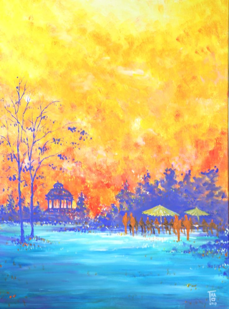 In the park - Jan 2017 - THAO Acrylic - 81x60