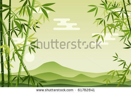 Abstract Green Bamboo Background. Illustration vector. - stock vector