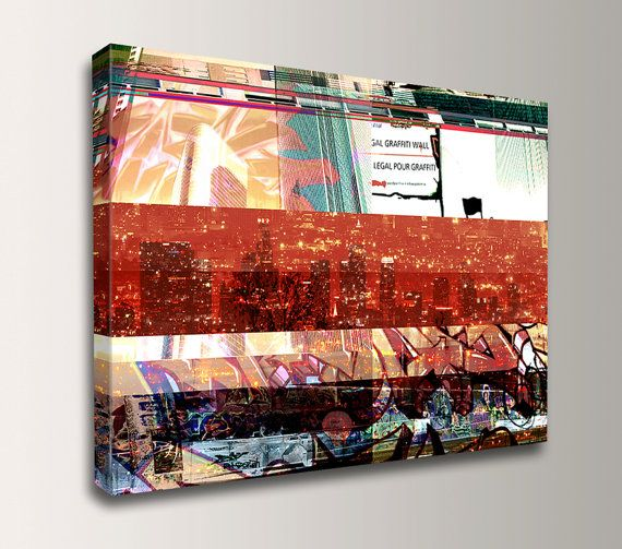 Urban Art  Graffiti  LA Skyline  Street Art  by TheModernArtShop, $79.00