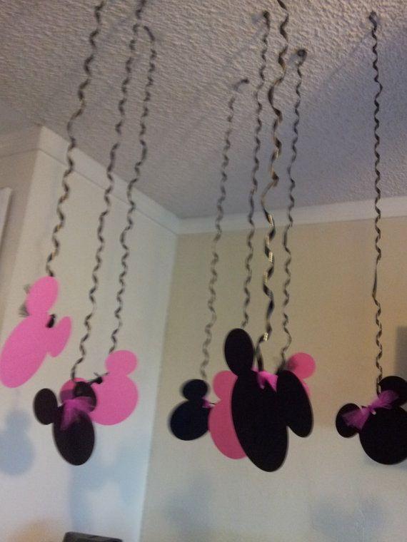 Decoracion de techo de fiesta Minnie mouse #FiestasInfantiles
