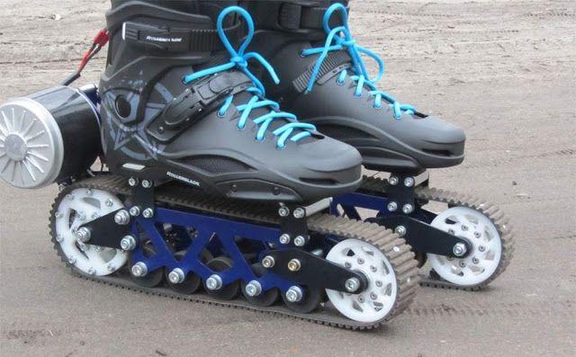 Tecnoneo: EV4, patines con ruedas de oruga para circular por todo tipo de terreno