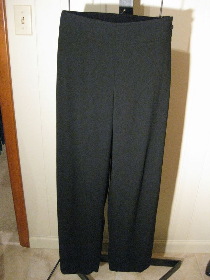 MISSES BLACK CREPE SATIN BACK PANTS DESIGNER TALBOTS COLLECTION 4 $199 #TALBOTSCOLLECTION #DressPants