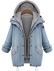 Women's Hoodie Plus Sizes Two Piece Denim Coat Save up to 80% Off at Light in the Box with Coupon and Promo Codes.