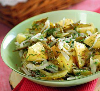 Теплый салат из печеного картофеля