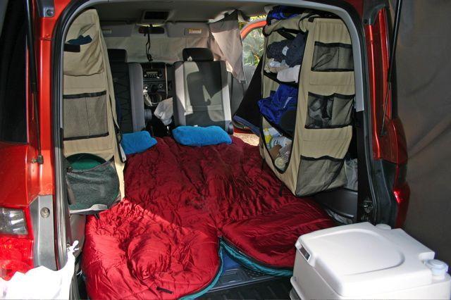 Honda Pilot Camping Tent | Car Interior Design