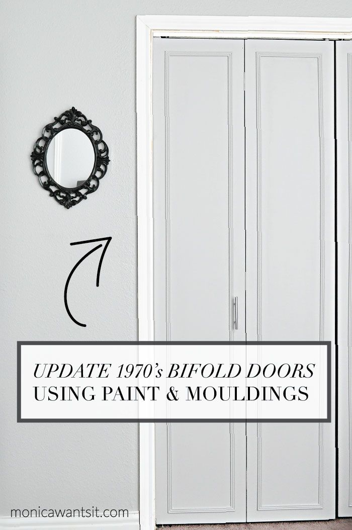 A step-by-step tutorial on how to update outdated bi-fold closet doors! The end result is so pretty and timeless.