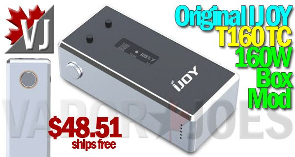 SWEET! – Original IJOY T160 160W Box w/ TempCtrl – $48.51