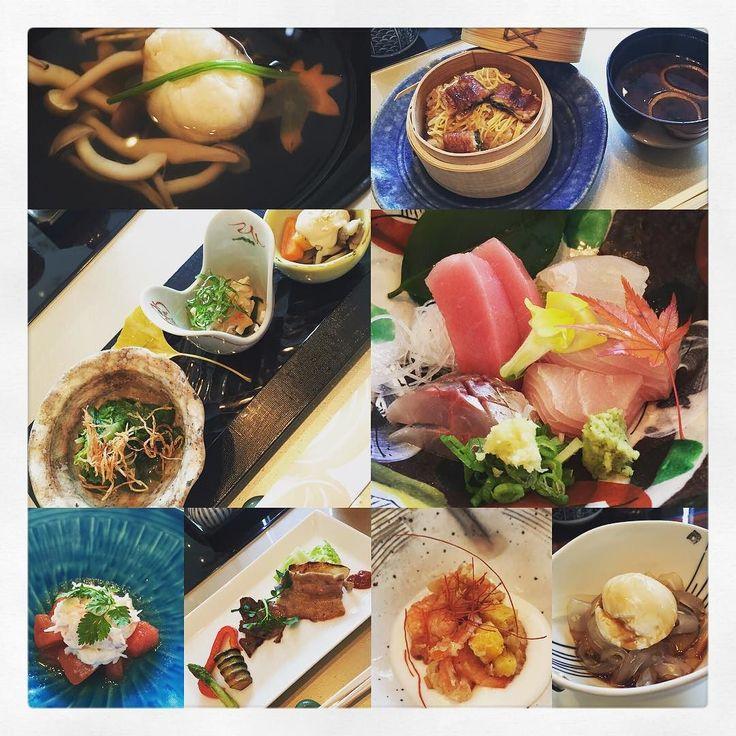 The Best of Kagoshima Lunch Kaiseki #foodie #HK #kaiseki #fish #sashimi #aji #toro #fishball #mushroom #veggie #tomato #beef #eel #eelrice #misosoup #icecream #jelly by salamanda1007