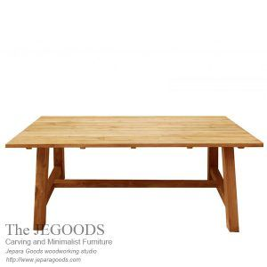 the Jegoods Woodworking Studio Furniture Indonesia, design and produce teak minimalist dining table Indonesia furniture craftsman at factory price.