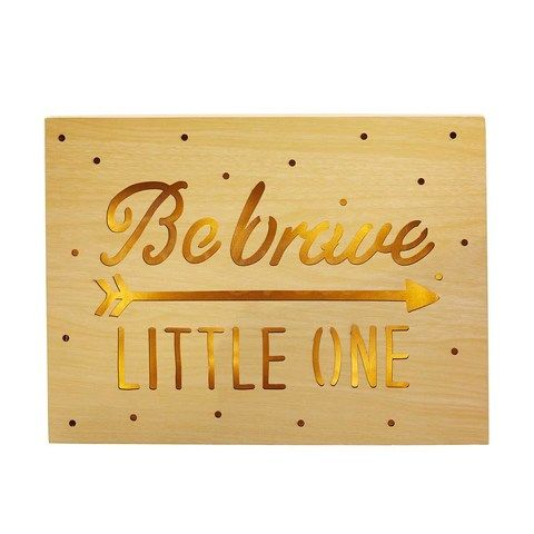 Be Brave Wall Light