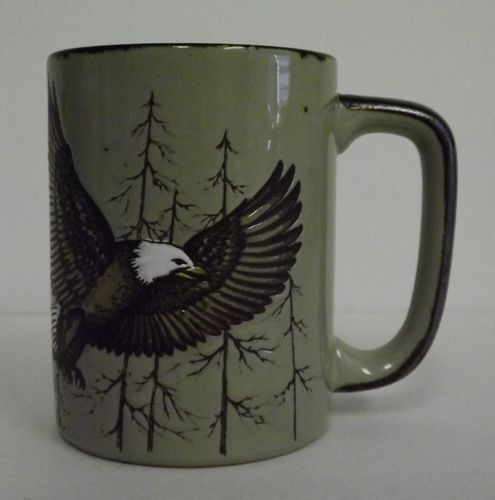 Vintage 1970s Otagiri Stoneware American Eagle Wilderness Coffee Tea Cup Mug | eBay
