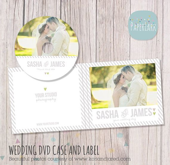 Wedding DVD/cd Case and Label  Photoshop by PaperLarkDesigns, $8.00