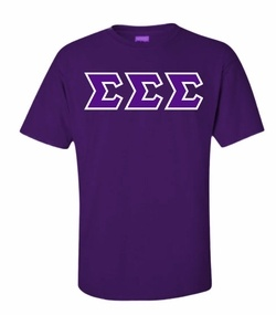 Sigma Sigma Sigma Lettered Shirts SALE $21.95. - Greek Clothing and Merchandise - Greek Gear®