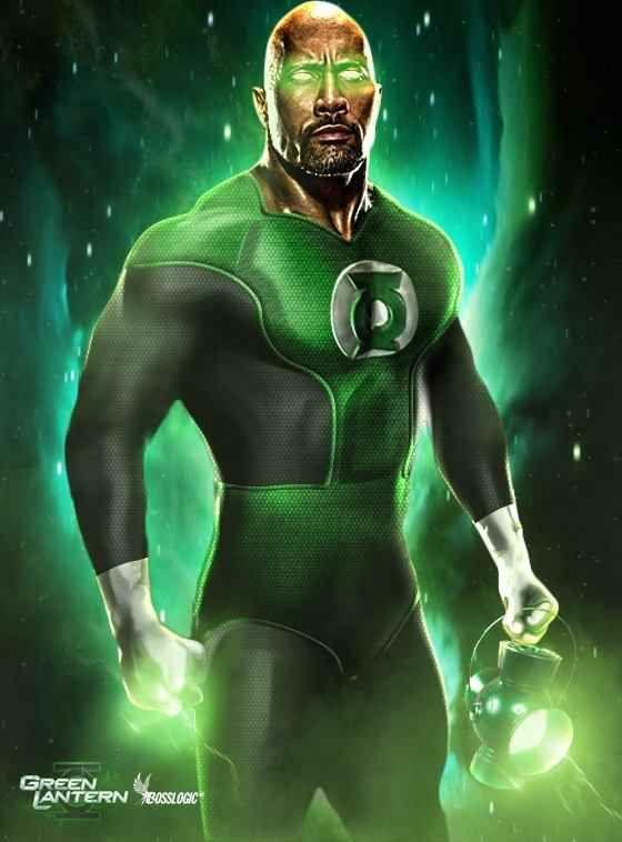 "Dwayne ""The Rock"" Johnson as Green Lantern John Stewart | 24 Superhero Fan Casting Dreams That Will Probably Never Come True ®... #{T.R.L.}"