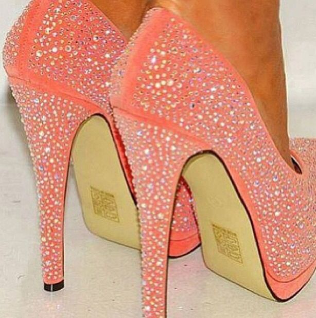 Peach Pumps for Prom