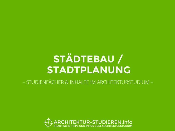 Städtebau und Stadtplanung
