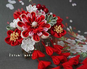 katumi made *つまみ細工の簪(かんざし)shop*お客様写真/お客様の簪着用の晴れ姿の写真館です♪