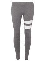 Womens **Only Play Stripe Gym Leggings- Grey