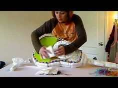 How To Make A Diaper Guitar. Ack :P where was this tutorial when I was expecting my little man? Too freaking cute ^_^