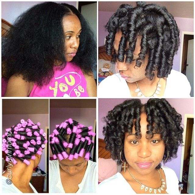 wet natural hair styles curlygirlmomo 1 1st pic rod set on an one week 4703 | 4f6acf6088756800f20340e77c293329 heatless hairstyles funky hairstyles
