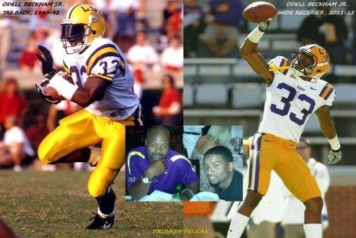 Odell Beckham Sr. & Jr., LSU.