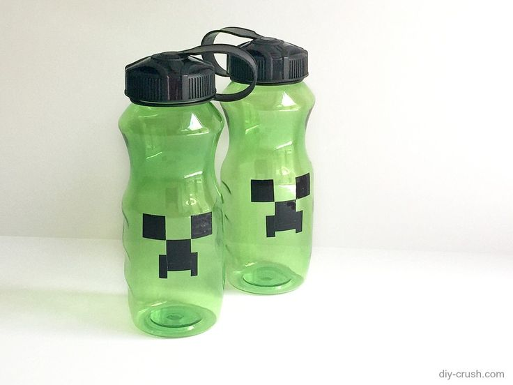 Minecraft plastic water bottle project for the boys for Plastic water bottle art