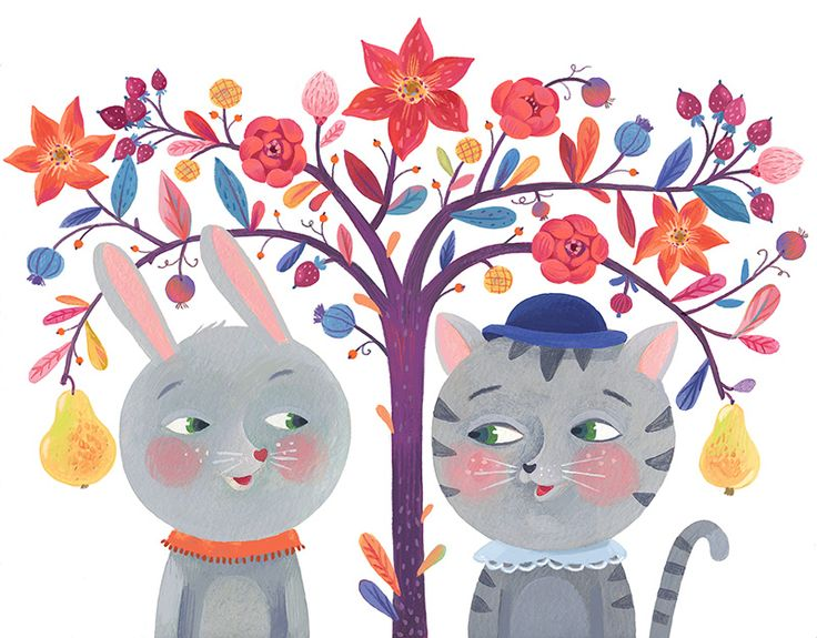 The two of us greeting card illustration and greetingcards made by Livia Coloji