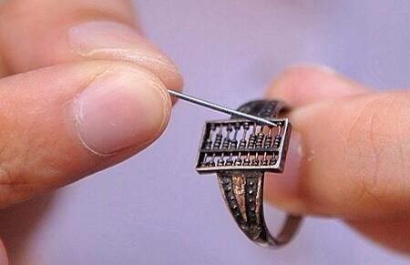 This 200 year old Chinese abacus ring may be the world's first wearable tech gadget. :)