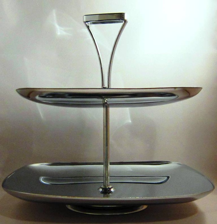 Mid Century Modern Milbern Creation Stainless Steel Two