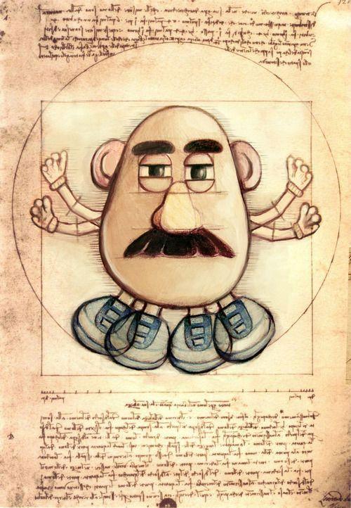 El señor potato de vitruvio