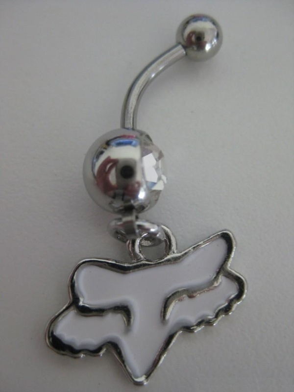 Fox racing belly button ring! WANT!
