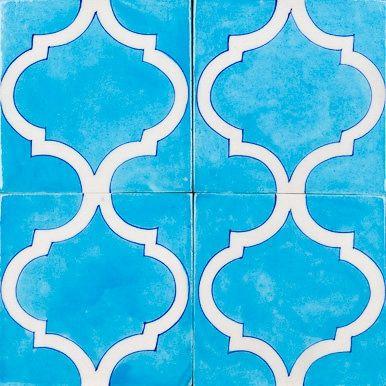 Aqua Arabesque Glazed