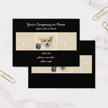 #Pembroke Welsh Corgi Business Card - #pembroke #welsh #corgi #puppy #dog #dogs #pet #pets #cute #pembrokewelshcorgi