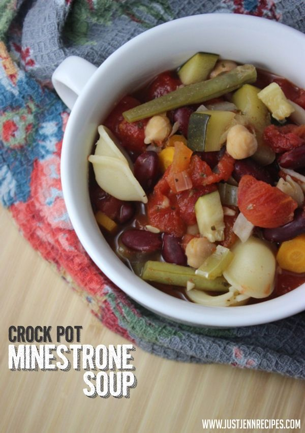 Crock Pot Minestrone Soup | Slow Cooker Creations | Pinterest