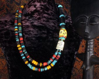 Tribale sieraden tribal ketting etnische door AsnatGuttmanDesigns