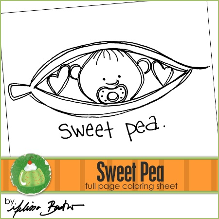 sweet pea coloring pages - 28 best images about digital stamps baby on pinterest