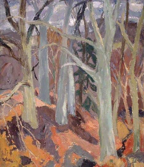 Woods at Arniston, Midlothian by William George Gillies (Scottish)