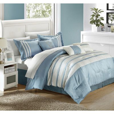 Chic Home Torino Pleated Piecing 7 Piece Comforter Set & Reviews | Wayfair
