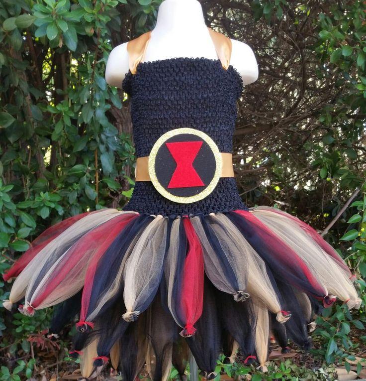 Black widow superhero tutu costumes diy black widow